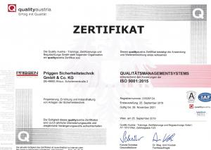 ISO 9001 Priggen